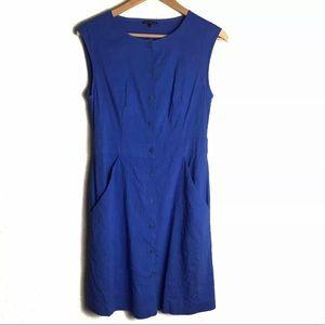 Theory Dress Sz 4 Blue Jalia Button Down Dress 4